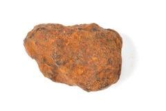 Makro- strzelanina próbki naturalna skała - próbka hematyt Obrazy Royalty Free