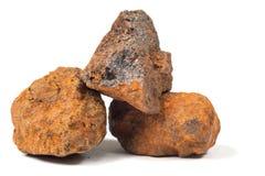 Makro- strzelanina próbki naturalna skała - próbka hematyt Obraz Royalty Free