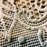 Makro- szczegółu tablecloth Zdjęcie Stock