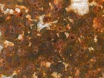 Makro- tekstura obieranie ośniedziała farba - metal - obrazy stock