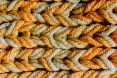 Makro- Trykotowy szalik z kolorowymi melange niciami zdjęcia stock