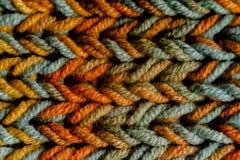 Makro- Trykotowy szalik z kolorowymi melange niciami zdjęcie royalty free
