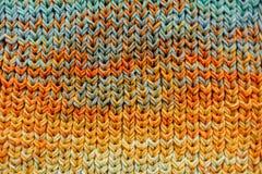Makro- Trykotowy szalik z kolorowymi melange niciami zdjęcia royalty free
