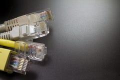 Makro Verbinder des Netzes einige RJ45 Lizenzfreie Stockfotos