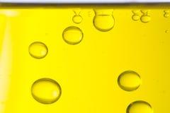 Makro von Öltropfen stockfotografie