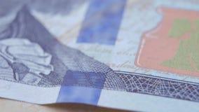 Makro von Benjamine Franklin-` s Gesicht auf den US man hundreed Dollarschein stock video footage