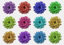 Makro von lokalisierten Blumen stockfotos