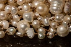 Makro von Perlen stockfotografie