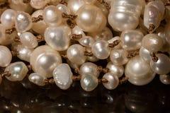 Makro von Perlen lizenzfreie stockfotografie
