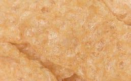Makro- widok Crunchy wieprzowiny skórka fotografia royalty free