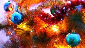 Makro- widok dekorująca choinka zdjęcie wideo