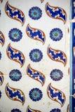 Makro- widok płytki w Rustem Pas meczecie, Istanbuł Obrazy Royalty Free