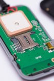 Makro- widok SIM karty miejsce dla wszywki Obrazy Stock