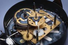 Makro- widok zegarowy mechanizm Zdjęcia Royalty Free