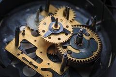 Makro- widok zegarowy mechanizm Fotografia Royalty Free