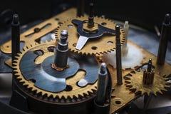 Makro- widok zegarowy mechanizm Obrazy Stock
