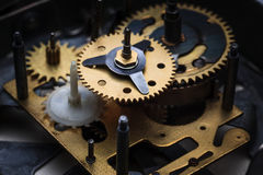 Makro- widok zegarowy mechanizm Zdjęcia Stock