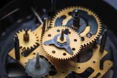 Makro- widok zegarowy mechanizm Obraz Stock