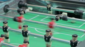 Makro- widoku stołu futbol, bawić się grę planszowa, rozrywka zdjęcie wideo