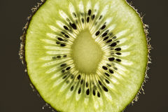 Makro- wizerunek kiwi owoc plasterek Fotografia Royalty Free