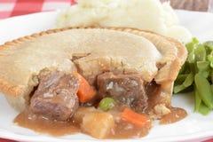 Makro- wołowina kulebiak Fotografia Stock