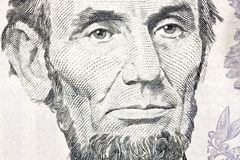 Makroabschluß Ben-Franklin herauf $100 Bill Lizenzfreie Stockbilder
