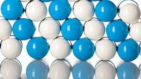Makroansicht der blauen medizinischen Pillen Lizenzfreies Stockbild