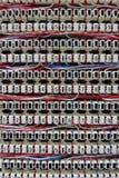 Makroansicht des Verbindungsstücktelefons Stockfotografie