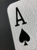 Makroansicht von Ace der Raum-Spielkarte Lizenzfreie Stockfotografie