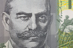 Makroaustralier hundert Dollar-Banknoten-Detail Stockbild