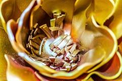 Makrobeschaffenheiten des Goldeisens Lizenzfreie Stockfotografie