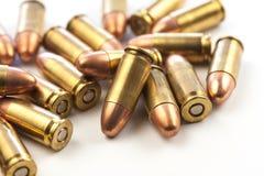 Gruppe 9mm Kugeln Lizenzfreie Stockfotos