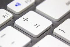 Makrobild einer weißen Tastatur Lizenzfreies Stockfoto