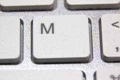 Makrobild einer weißen Tastatur Lizenzfreies Stockbild