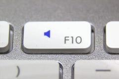 Makrobild einer weißen Tastatur Lizenzfreie Stockfotografie