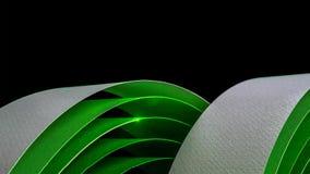 Makrobild von bunten gebogenen Blättern Papier stockfoto