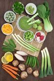 Makrobiotische Diät-Lebensmittel-Auswahl lizenzfreies stockfoto