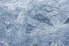 Makrocloseup av klara iskristaller Arkivbild