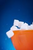 Makrodetail der Zuckerwürfel Lizenzfreies Stockfoto