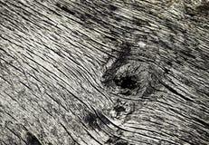 Makrodetail des alten verwitterten Holzes Stockfoto