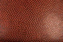Makrodetalj av fotboll eller basket Arkivbilder