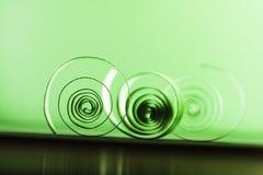 Makroen abstrakt begrepp, bakgrundsbild av papper röra sig i spiral på pappers- bakgrund Arkivbilder