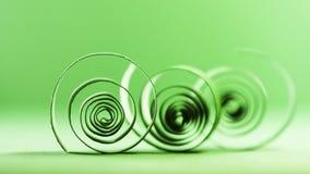 Makroen abstrakt begrepp, bakgrundsbild av papper röra sig i spiral på pappers- bakgrund Royaltyfria Bilder