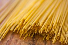 Pasta på trä Royaltyfri Bild