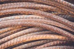 makroen för fältet för djup för abstrakt begreppstänger förstärker den konkreta grunt stål för stänger till använt Royaltyfria Foton