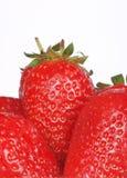 makroen sköt några jordgubbar Arkivbilder
