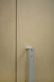 Makrofoto av dörrhandtaget Arkivfoto