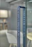 Makrofoto av dörrhandtaget Royaltyfri Bild