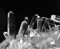 Makrofoto av salta kristaller i svartvitt Royaltyfri Foto