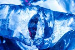 Makrofoto von Eiswürfeln stockfoto